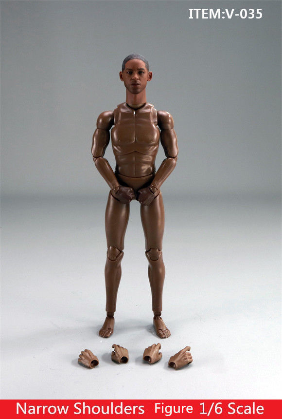 1//6 Will Smith Flexible Narrow Shoulder Standard Figure Body W// Head Model Toy