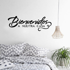 Welcome to Our Home Spanish Quote Wall Sticker Welcome Sign Decorative Vinyl Decals Bienvenidos a nuestra casa Home Art AZ372