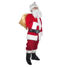 цена Christmas Decoration Costumes Santa Claus Costume For Adults Thicken Christmas Clothes Hats Xmas Festival Party Cosplay Clothing