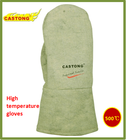 500 degrees heat-resistant gloves CASTONG ABG-2T-34 Oven glove Two fingers High temperature gloves