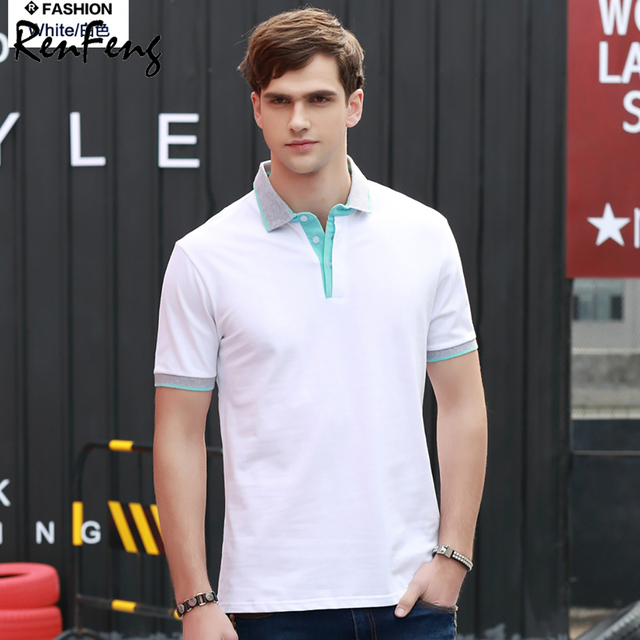 7f79991a 2019 Summer Style Cotton Man Polo Shirts T Blank White Short Sleeve Slim  Breathable Famous Brand Men's Polos Shirts Male Tops T