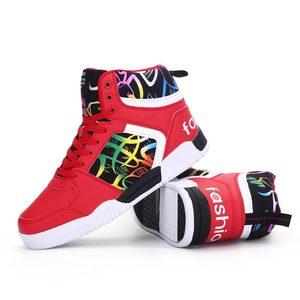 Image 3 - Высокие мужские кроссовки Hundunsnake, женские и мужские кроссовки, мужская спортивная обувь из искусственной кожи, спортивные красные спортивные кроссовки для спортзала, 2019 A 080