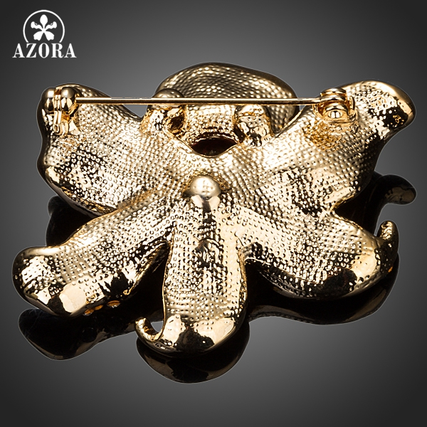 AZORA Χρυσό χρώμα εμφάνιση λουλουδιών - Κοσμήματα μόδας - Φωτογραφία 2