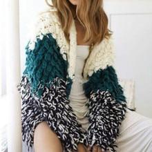 Женский толстый шерстяной свитер ручной вязки, Свободный вязаный кардиган с кисточками, куртка, мохеровые вязаные пальто из шерсти, длинная пряжа, топы