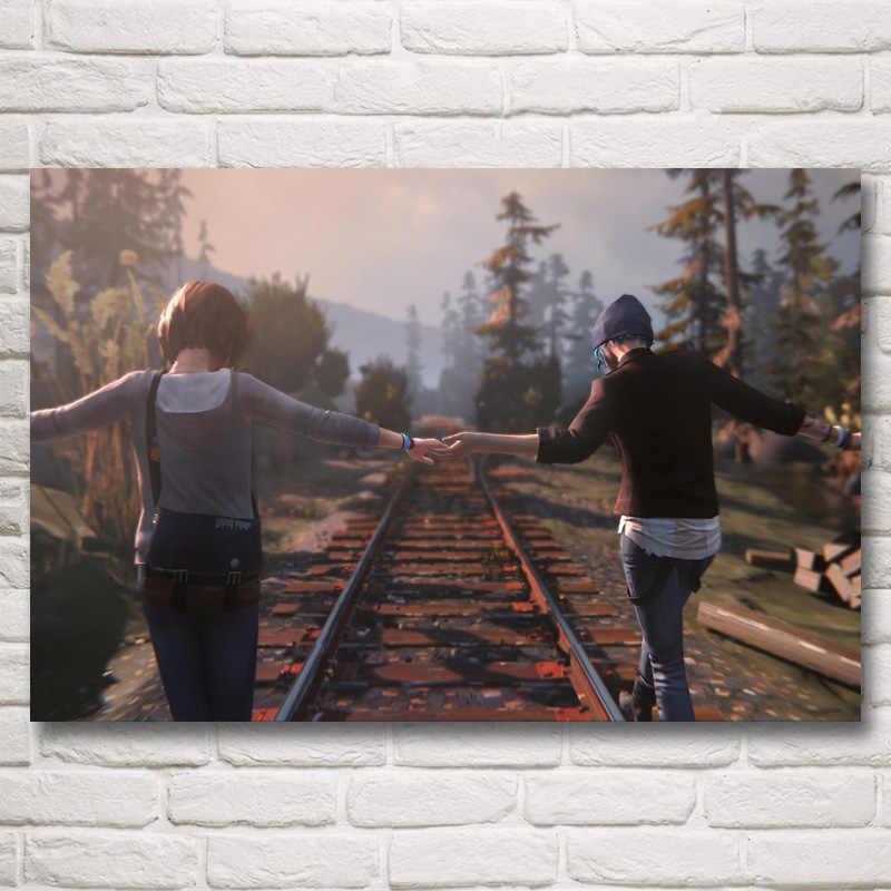 FOOCAME Chloe Prijs Max Caulfield Leven Is Vreemde Games Art Silk Poster Home Decor Schilderen 12x18 16X24 20x30 24x36 Inches