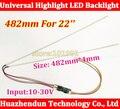 1 pcs 482mm brilho Ajustável levou kit tira backlight, Update wide-22inch monitor de 22 ''LCD ccfl painel de retroiluminação LED