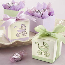New Arrival Factory Directly Sale Wedding Favor Box-laser-cut Baby Carriage Favor Boxes Also Incluidng Baby Shower Wholesale(China)