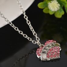 Gifts For Mom Daughter Sister Best Friends Mothers Day Gift Rhinestone Love Heart Pendant Family Fine Jewelry
