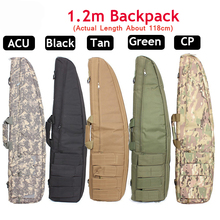 Tactical 118CM Heavy Gun slip Duty Gear Carry Bag Rifle Gun Case shoulder pouch Hunting Backpack Bags for Hunting Outdoor Sports tactical soft gun bag black heavy duty tactical shotgun rifle case shoulder pouch carbine bag shooting gun carry case