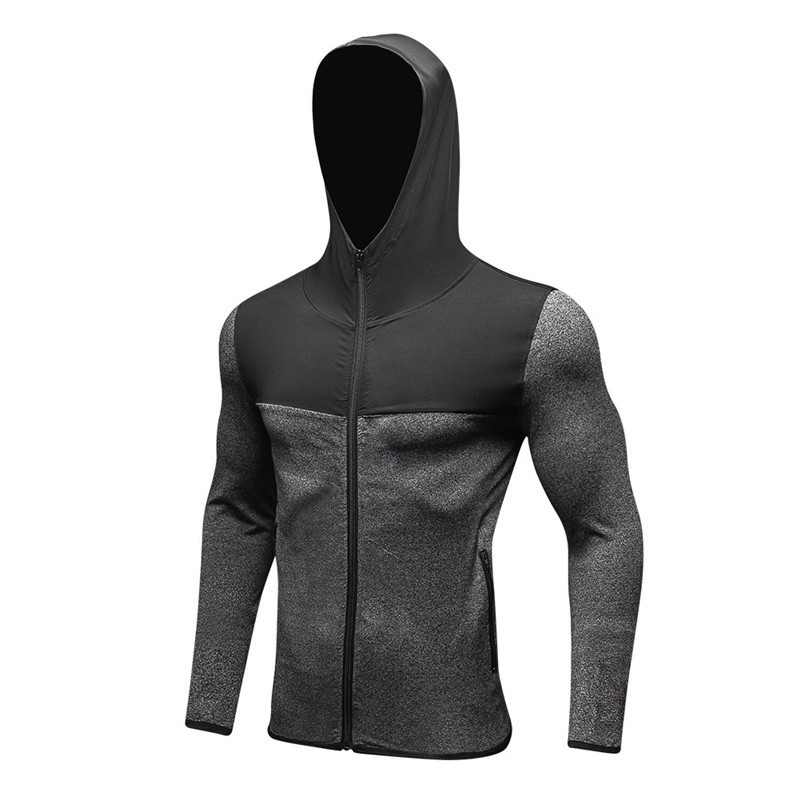 Long Sleeve Sport Shirt Men Hat+Zipper Womens Running T-shirts Gym Sports Clothing Sport ...