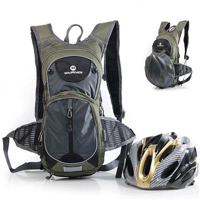 Maleroads 10L Cycling Backpack Hydration Water Bladder Bag Bicycle Biking Bagpack Camping Hiking Trekking Bag Pack For Men Women