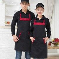 Korean Fashion Around The Neck Hanging Apron Apron Coffee Shop Waiters Work Custom Printed Apron Kitchen