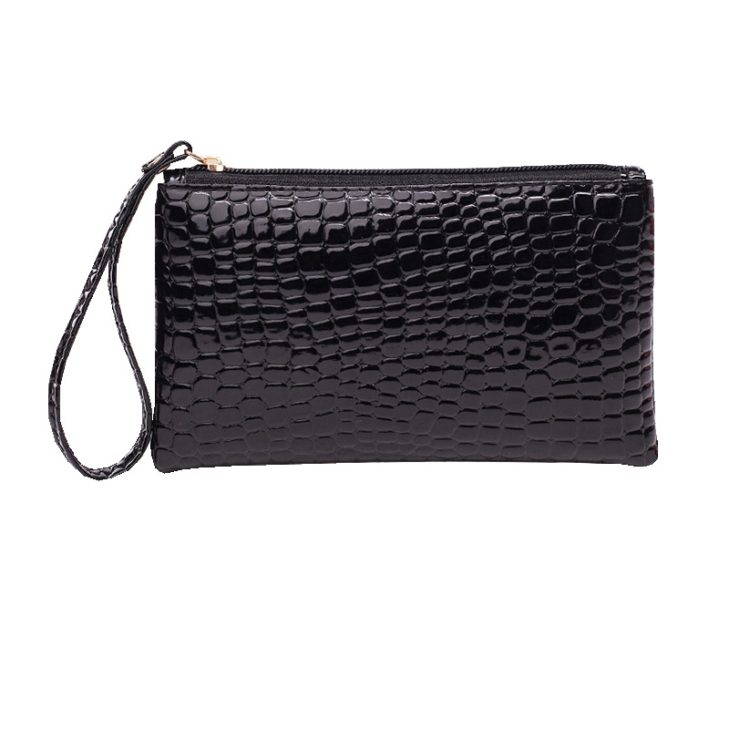 Crocodile Pattern PU Pocket Coin Bag Purse Mini Wrist Coin Wallet Pouch Women Handbag Cards Holder Bag
