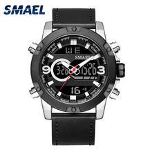 33187b80144 SMAEL Relógio Do Esporte Dos Homens Digital LED Relógio de Pulso Mens Relógios  Marca Top Militar Tático Exército Luminosa Preto .