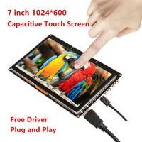 Free Driver 7 Inch 1024 600 Display Touch Screen Monitor For Raspberry Pi Windows PC BeagleBone