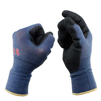 3Pairs/Pack Mechanics Work Gloves Breathe Waterproof Nitril Coating Nylon Safety Garden Gloves Gardening ,Construction Gloves - DISCOUNT ITEM  15% OFF All Category