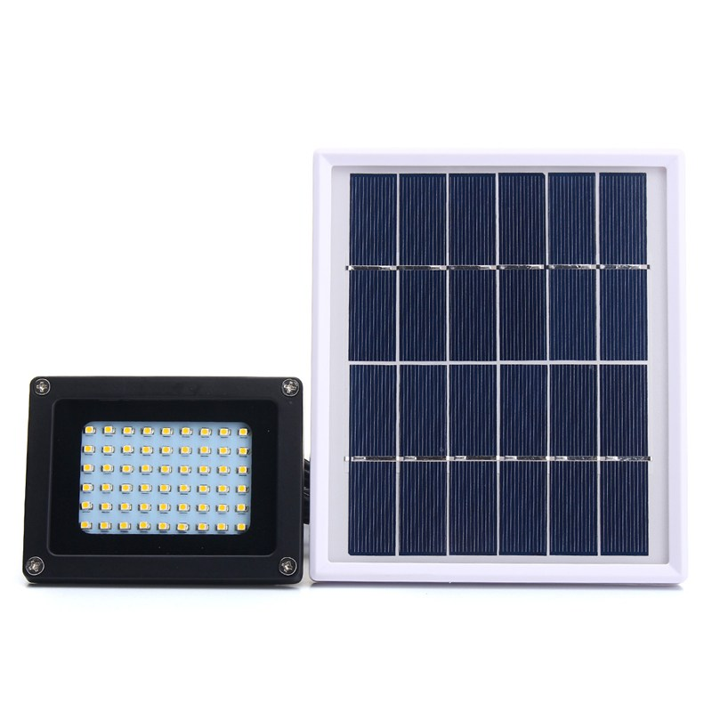 Waterproof IP65 54 LED Solar Light Solar Panel 3528 SMD LED Flood Light Sensor Floodlight Outdoor Garden Security Wall Lamp 0 9m smd 3528 90 leds waterproof led rope light festival lighting