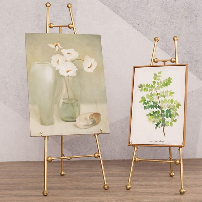 Wrought iron oil painting frame frame floor stand display stand poster stand photo bracket wedding easel