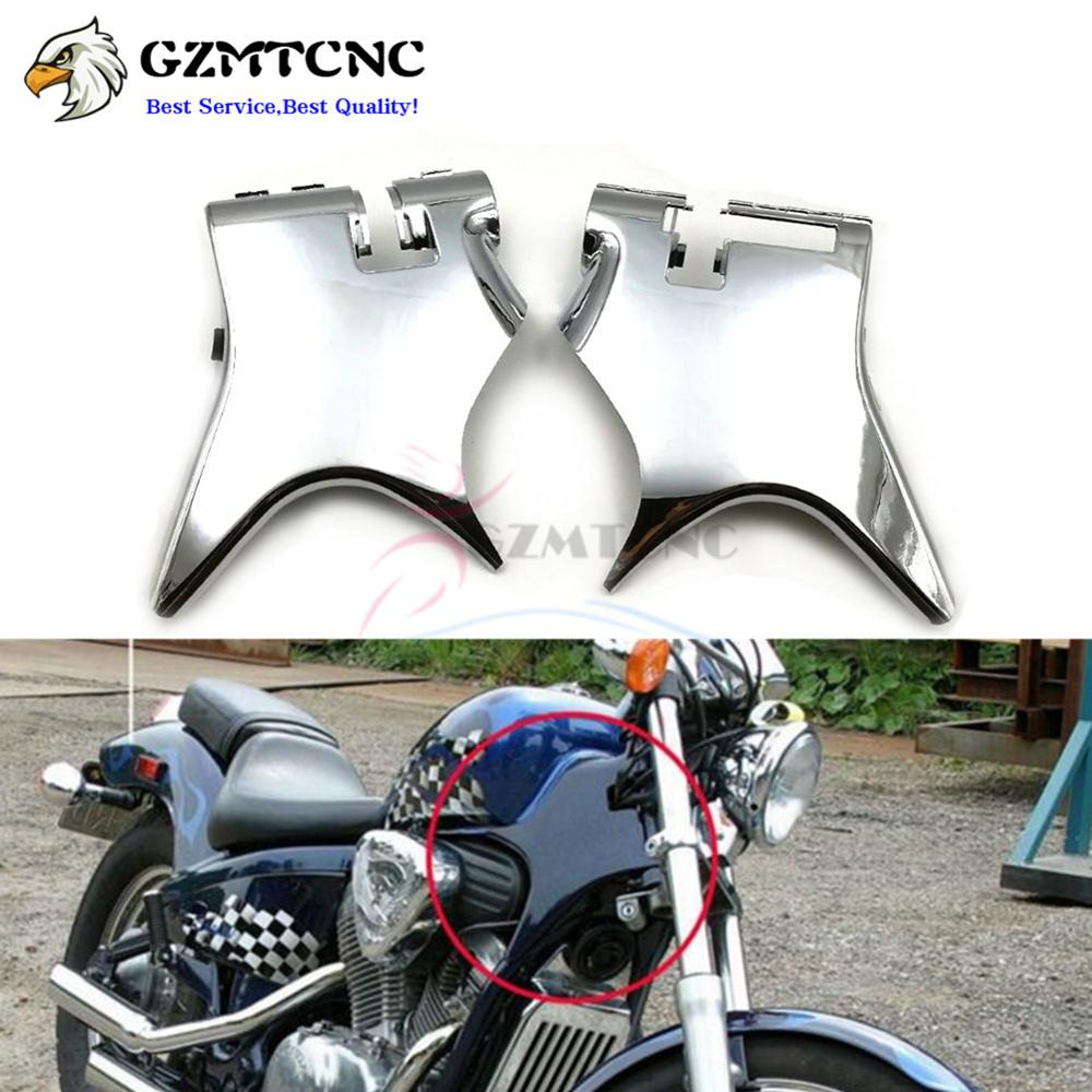 Motorcycle Neck Cover Cowl Wire Covers Side Frame Guard Black/Chrome ...