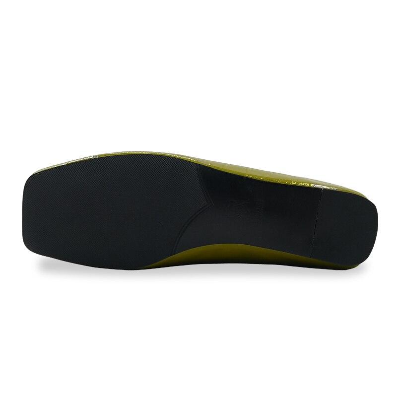 2018 Mode Glissement 42 Chaussures Cuir D'été Rxemzg 33 Grande Pantoufles Taille Appartements brown Femme Qualité En Sur jaune Couleur Véritable Orteil Noir Haute Carré Solide zwFwqZdp