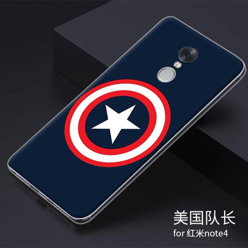 Caso de xiaomi redmi note 4 5.5 ''tpu teléfono cubierta del caso para xiaomi red