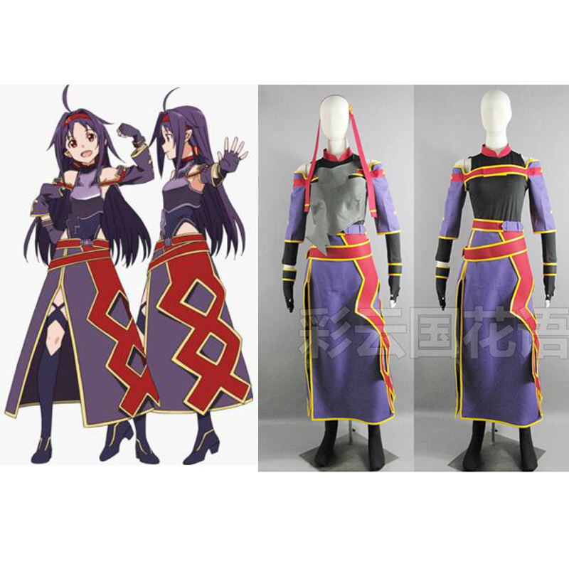 2012 Custom Made New Arrival Anime Sword Art Online ALO Konno Yuuki Outfit Cosplay Costume image