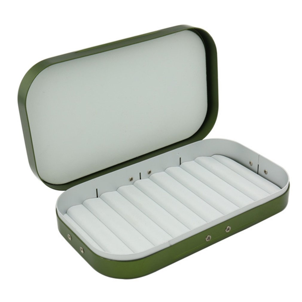 Aluminum Alloy Fly Fishing Lure Hook Storage Case Portable Fish Lure Bait Tackle Box Container Fishing Accessories
