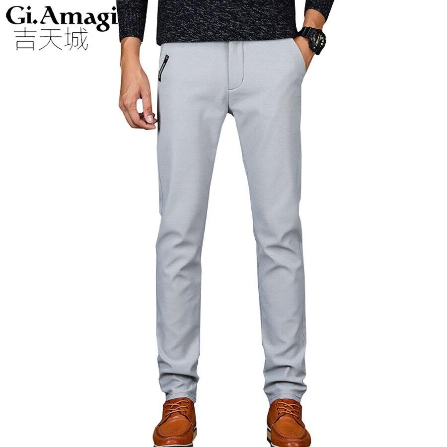 Hommes Jeans Droites Jeans décontractés Élastique De Conception de Mode confort Hommes Pantalon Gris Noir Bleu Kaki