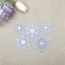 Julyarts 5 PCS Snowflake Flowers Cuts Metal Die Cutting Dies Scrapbooking Embossing Folder Suit For big Shot Machine