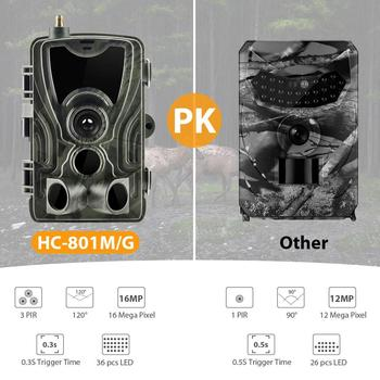 HC-801G Hunting Camera 16MP Trail Camera SMS/MMS/SMTP IP66 Photo Traps 0.3s Trigger Time 940nm LEDs Wild Cameras 2G 3G 801M 4