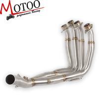Motoo 51MM New Middle pipe full System For YAMAHA YZF R6 R6 2008 2016 Motorcycle Modified Muffler Pipe Front Header Pipe Tube