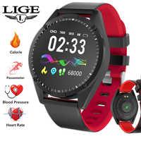 Inteligentny zegarek mężczyźni kobiety inteligentna bransoletka oled ekran Monitor pracy serca pomiar ciśnienia krwi smartwatch sportowy android ios