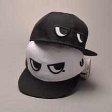 52b52b3d092 Funny Unisex Black White Eyes Fashion Bone Brand New Snapback Caps Men  Women s Adjustable Baseball Cap Snapback Hip Hop Hat
