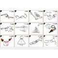 25 PCS/Set IQ Metal Wire Puzzle for Children/Adults Gift,Creative Brain Teaser Puzzles Game Educational Toys Good Quality