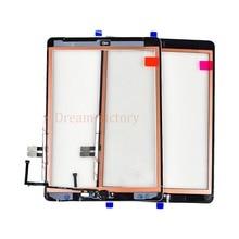 10 adet iPad 2018 Için A1893 A1954 dokunmatik ekran digitizer iPad 6th içerir Ev Düğmesi + Kamera tutucu + Yapıştırıcı