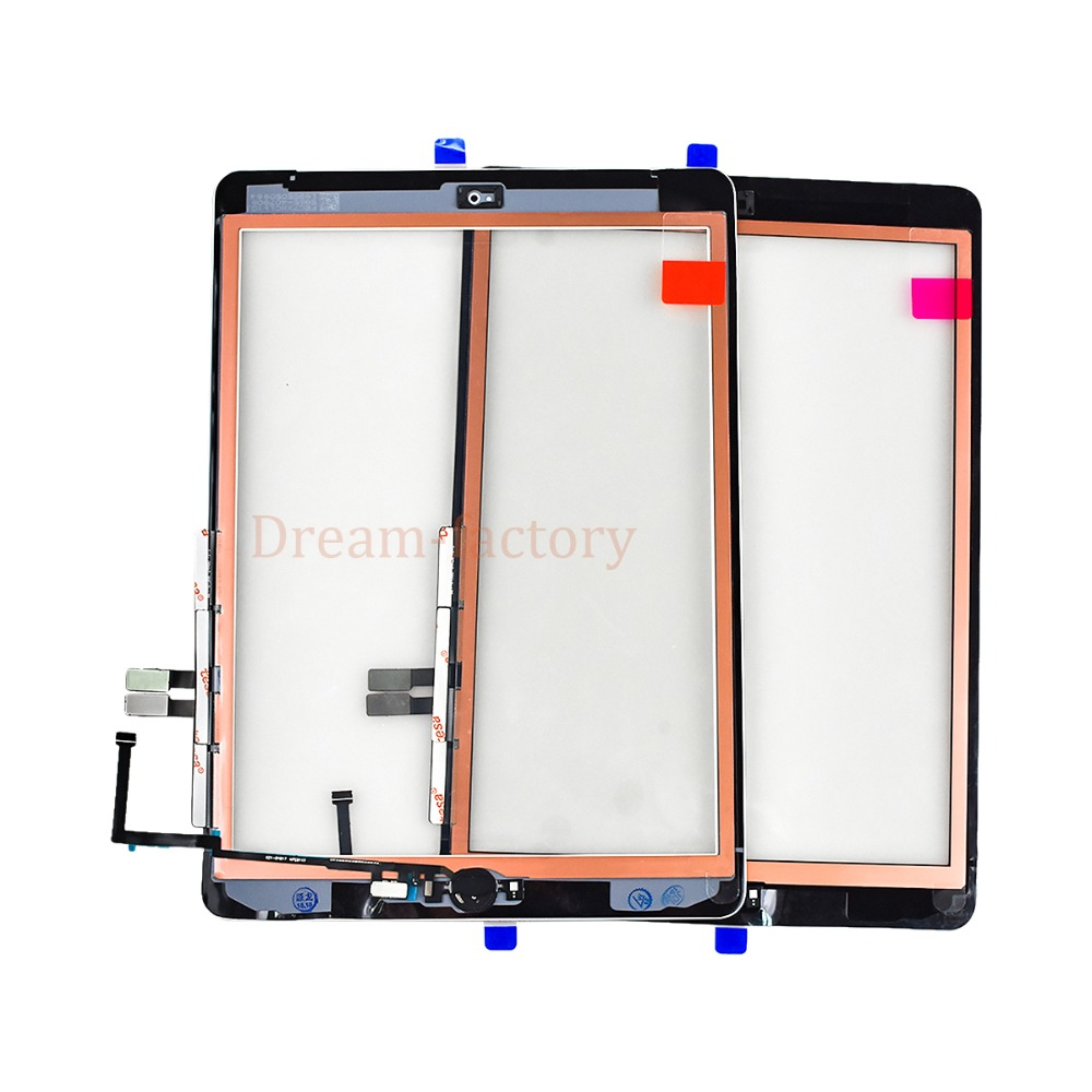 10pcs For iPad 2018 A1893 A1954 Touch Screen Digitizer For iPad 6th includes Home Button +Camera holder+Adhesive-in Tablet LCDs & Panels from Computer & Office