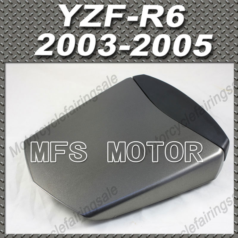 Motorcycle Rear Pillion All Gray Injection ABS Seat Cowl Cover For Yamaha YZF-R6 2003-2005 04