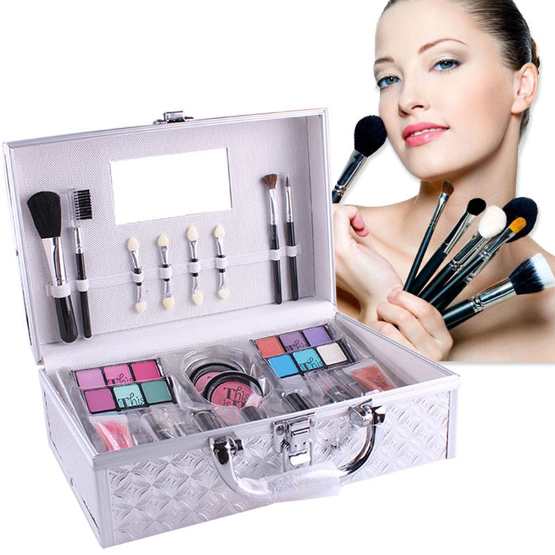 MISS ROSE Brand Make Up Pack Makeup Artist Special Make Up Box Professional Makeup Set Eye Shadow Blush Lipstick Cosmetic Tool 38 in 1 professional cosmetic makeup lipstick plate w mirror multicolored