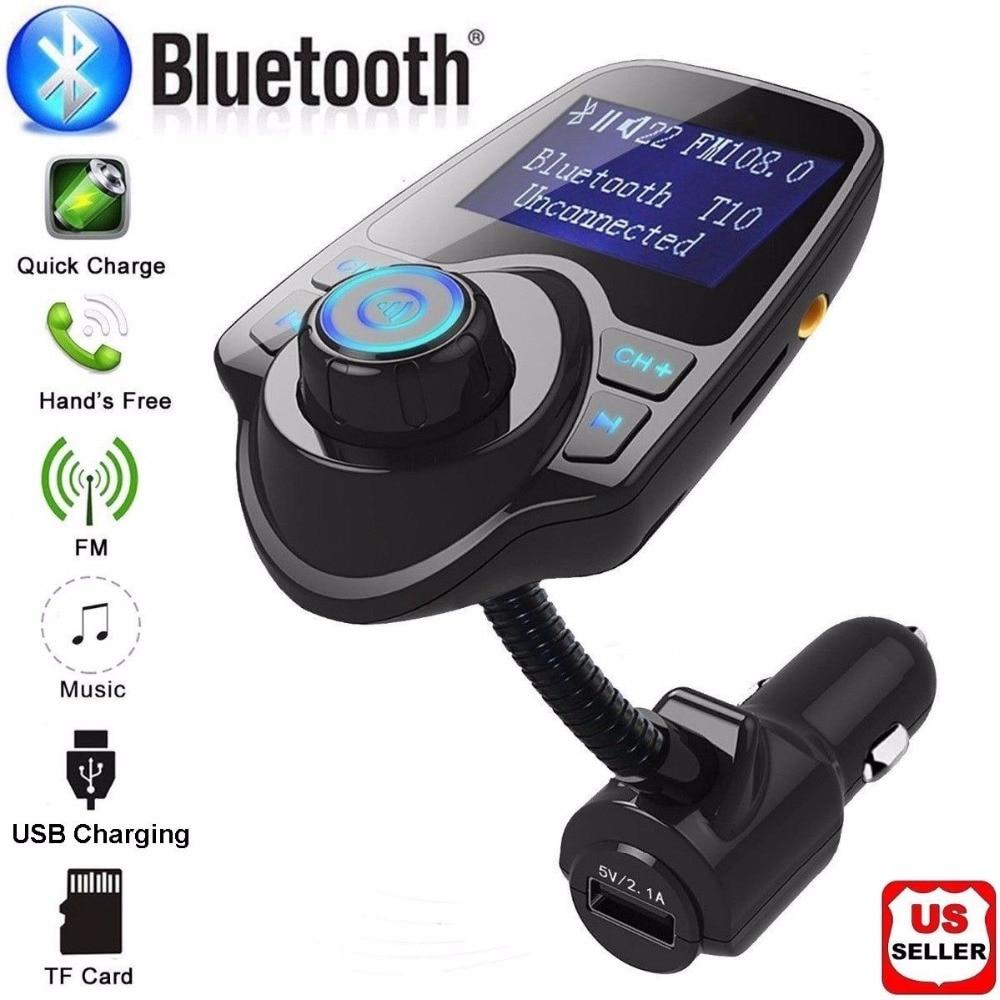 Kingslims Wireless In-Car Trasmettitore FM Bluetooth MP3 Radio Adapter Kit per Auto USB Caricabatteria Da Auto MP3 Player di Alta Qualità