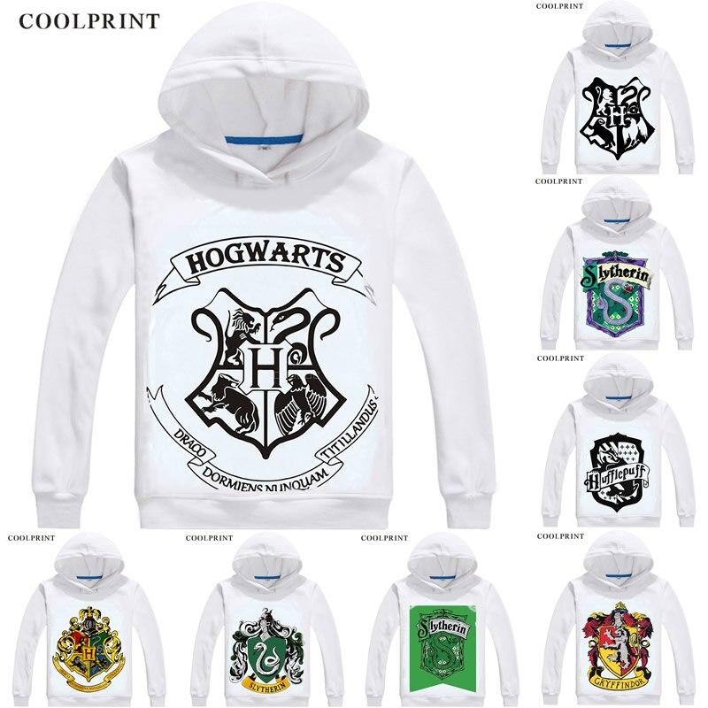 Gryffondor Poufsouffle Serdaigle Serpentard pulls à capuche pour hommes Harri Potter HP Poudlard, L'école Sweat Streetwear Costume À Capuchon
