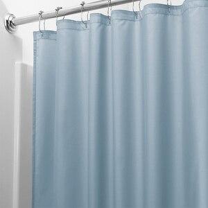 Image 5 - אור מוצק פוליאסטר וילון מקלחת טחב עמיד אמבט וילון לhotal עמיד למים טרי עמיד אמבטיה מחיצת וילון
