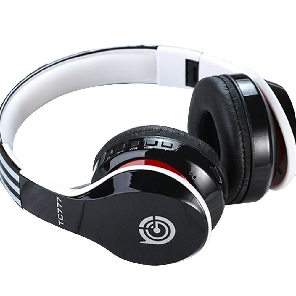 2019 Newest Ergonomically Designed Over-Ear Adjustable 3.5mm Earphone BT4.1 Stereo Headset Headphone For MP3/iPhone Smartphones