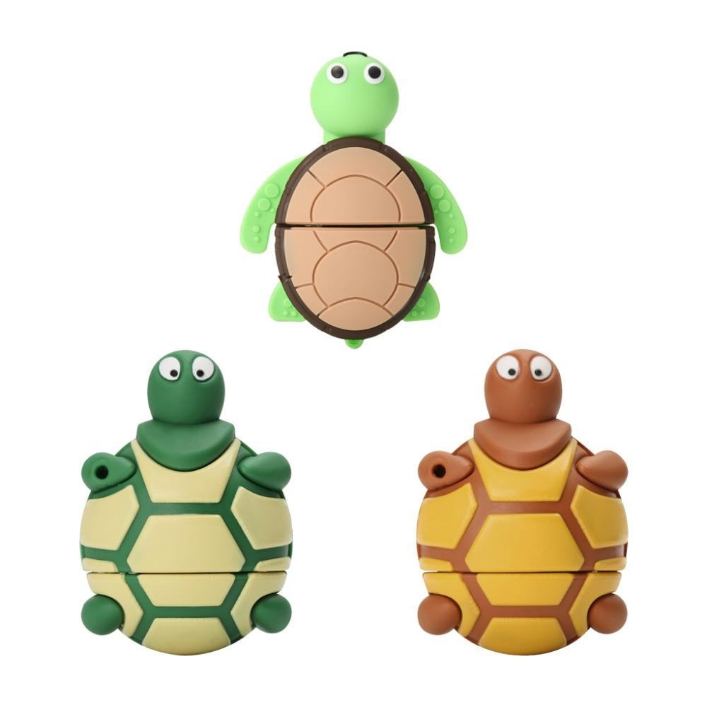 Cartoon Cute Tortoise USB Flash Drive 4GB 8GB Pendrive 16 GB 32GB USB Stick 64GB 128GB USB-Flash Memory Stick