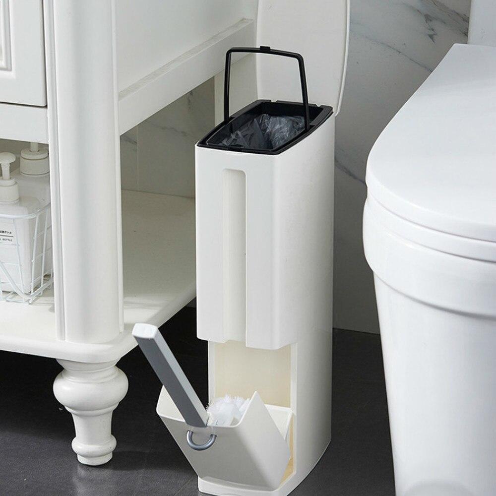 Ménage poubelle ménage salle de bains toilette style japonais petit set de papier avec couvercle brosse de toilette one LM5181006py