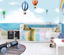 3D cartoon wallpaper blue ocean childrens simplicity for kids room wall cloth boy girl bedroom dolphin background