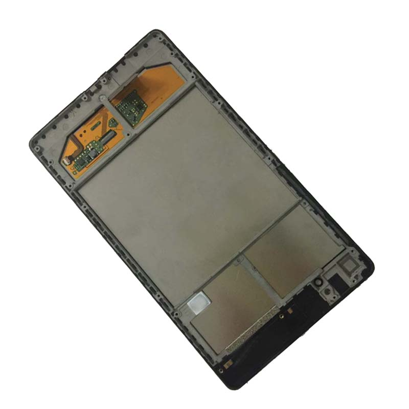 For ASUS Google Nexus 7 2nd ME570 ME571 Gen 2013 Wifi Touch Screen Panel Digitizer + LCD Display Monitor Assembly with Frame original 7 inch for nexus 7 2nd gen 2013 lcd display touch screen digitizer assembly for asus google nexus 7 2nd free shipping