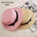 Playa de diseño Creativo straw Fedora Panamá sombrero de paja al aire libre sombrero de verano al aire libre femenino pliegan gorras