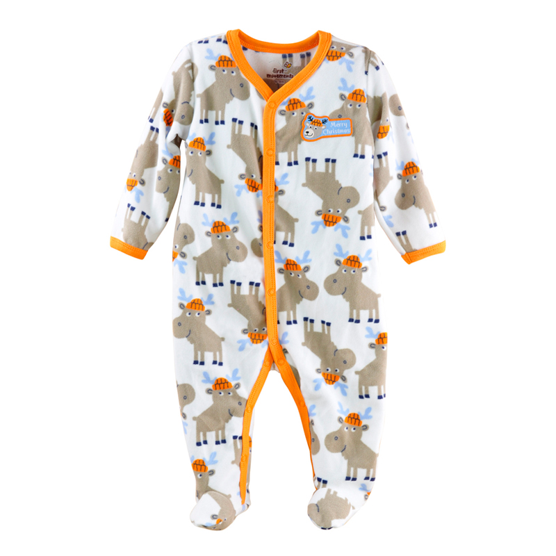 0~12M Winter Autumn Long Sleeve Baby Boy Fleece Rompers Infant Girl Clothes Newborn Toddler Clothing Roupas Infantil Jumpsuit youqi unisex baby clothes boy rompers girl jumpsuit clothing winter underwear toddler infant pajamas spring autumn baby clothes