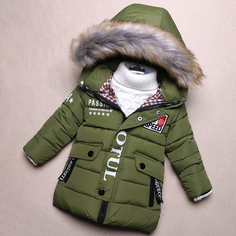 Autumn Winter Boys Coats And Jackets Warm Cotton Hooded Kids Coat Toddler Childrens Down Jackets For Boys TZ95 casual 2016 winter jacket for boys warm jackets coats outerwears thick hooded down cotton jackets for children boy winter parkas