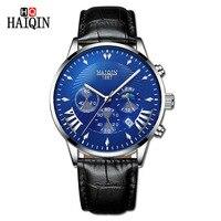 HAIQIN мужские s часы Лидирующий бренд Роскошные спортивные часы кварцевые наручные мужские часы Mliltary часы мужские водонепроницаемые Relogio ...
